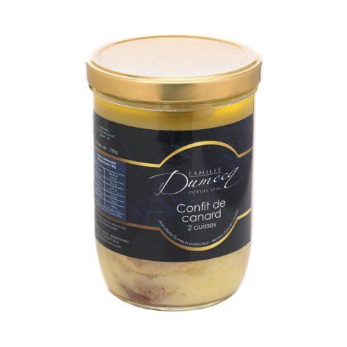 2 cuisses de canard des Landes confites - Famille Dumecq