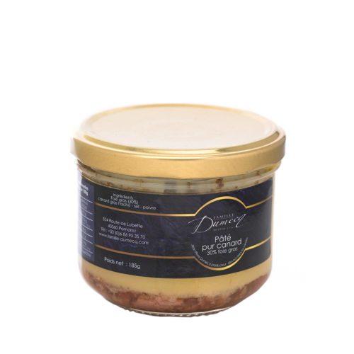 Paté pur canard des Landes 30% foie gras de canard des Landes - Famille Dumecq