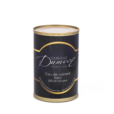 Cou de canard des landes farci avec 20% de foie gras de canard des Landes - Famille Dumecq